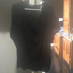 Nwot $298! vince drapey silk blouse black large